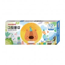 모나미/ 모니주 12색 그림물감