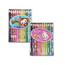 보성 12색 축지식( 종이말이) 색연필
